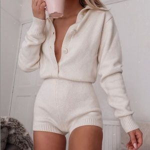Limited edition soft and warm knit jumpsuit